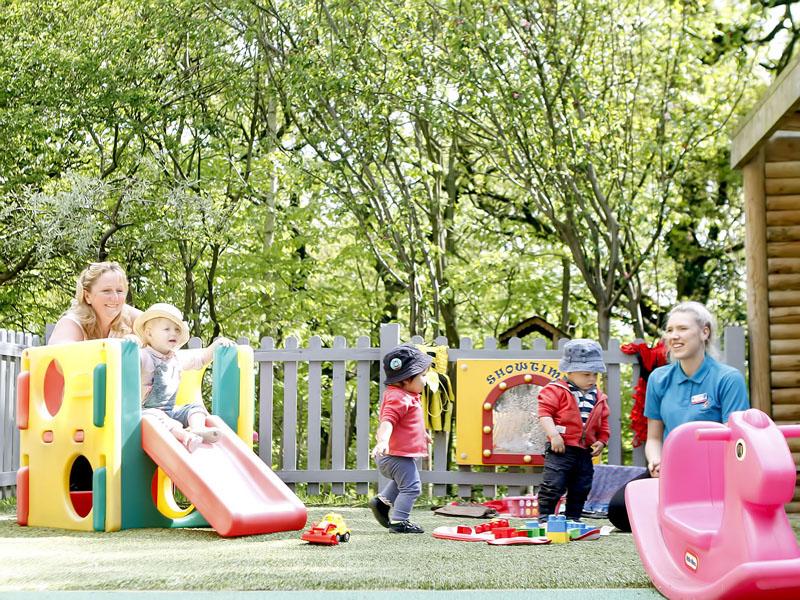 Outdoor play at Children's Corner