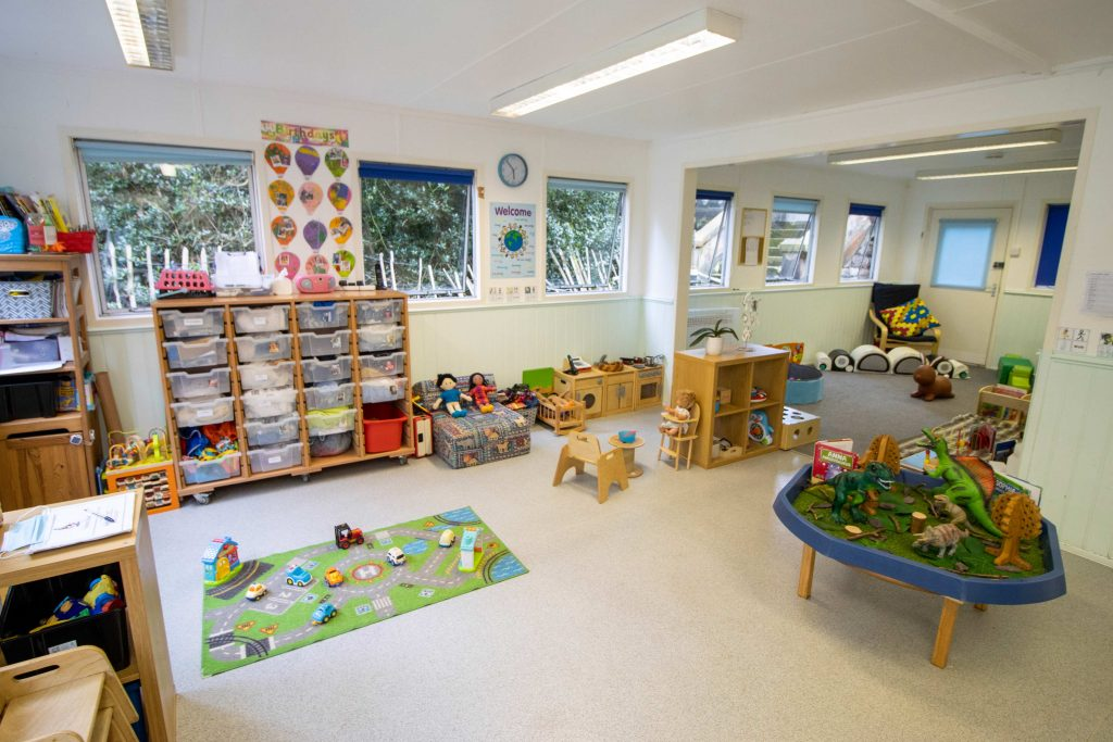 Our nursery room filled with toys and games