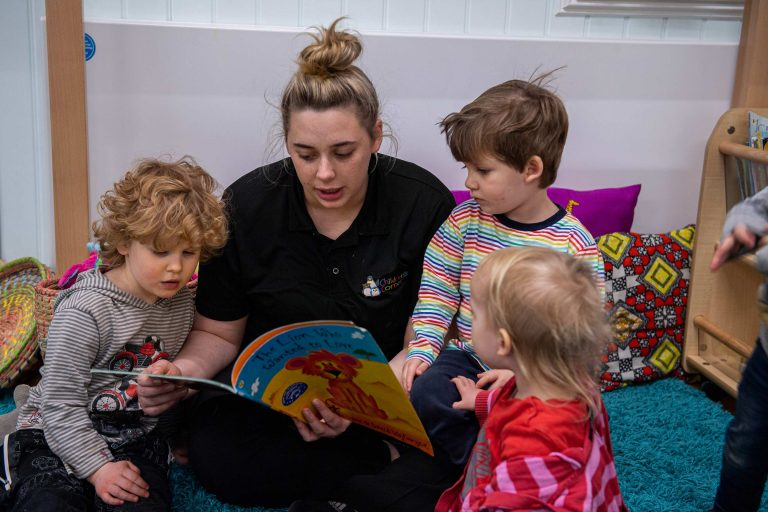 Group story time at nursery