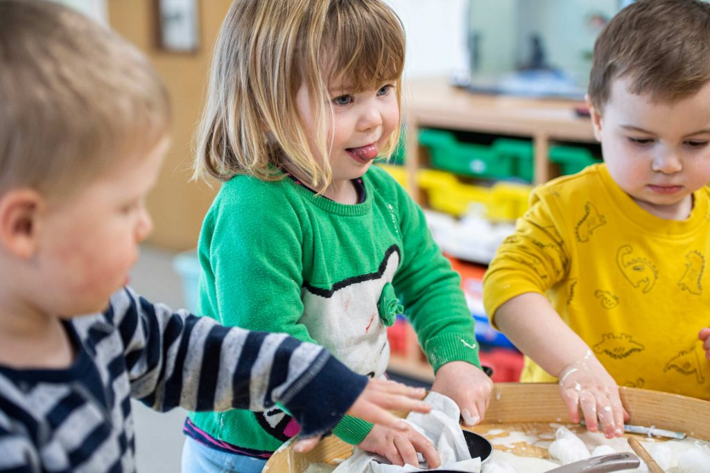 Group crafts at Farsley Nursery